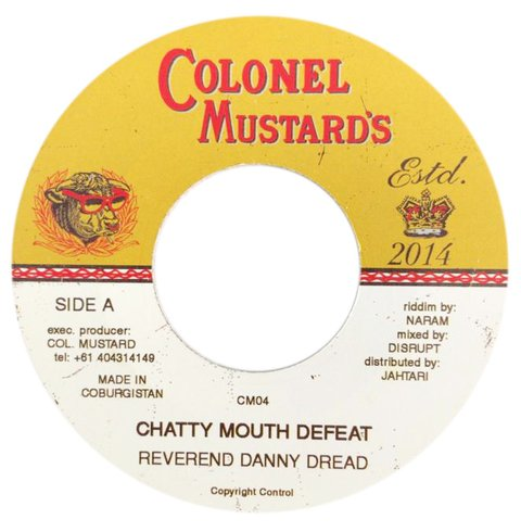 "7"" Reverend Danny Dread - Chatty Mouth Defeat/Version [NM]"