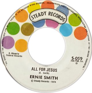 "7"" Ernie Smith - All For Jesus/Super Version (Original Press) [VG+]"
