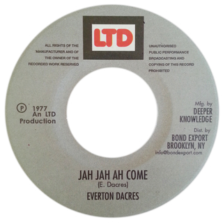 "7"" Everton Dacres - Jah Jah Ah Come/Version Ah Come [NM]"