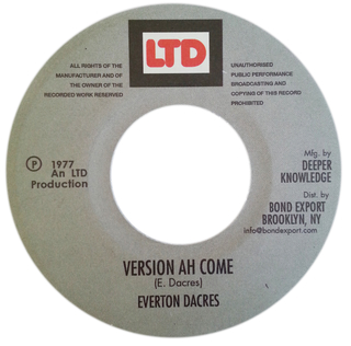 "7"" Everton Dacres - Jah Jah Ah Come/Version Ah Come [NM] - comprar online"