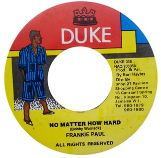 "7"" Frankie Paul - No Matter How Hard/Version [VG]"