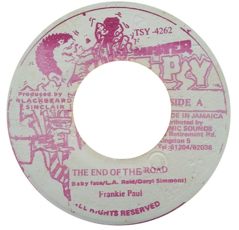 "7"" Frankie Paul - The End Of The Road/Version (Original Press) [VG+]"