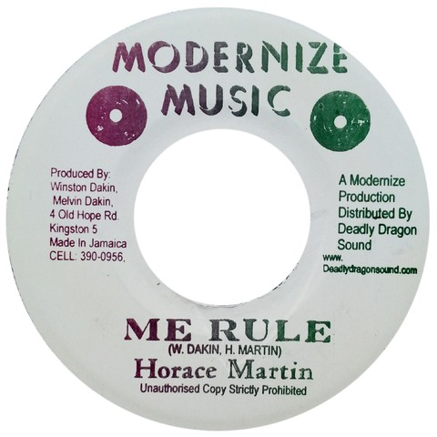 "7"" Horace Martin/Prince Huntley - Me Rule/Rule (Original Press) [VG]"