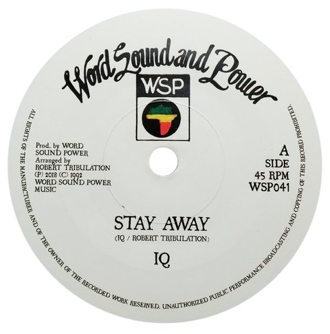 "7"" IQ/Tribulation All Stars - Stay Away/Dub Away [NM]"