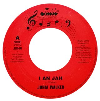 "7"" Junia Walker - I An Jah/Jahnoi Dub [VG+]"