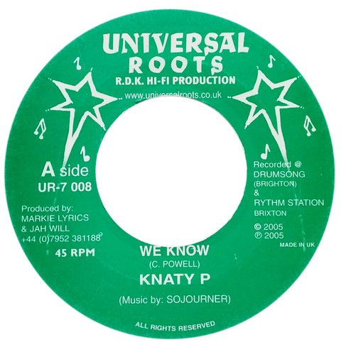 "7"" Knaty P - We Know/Charmers Version [VG+]"