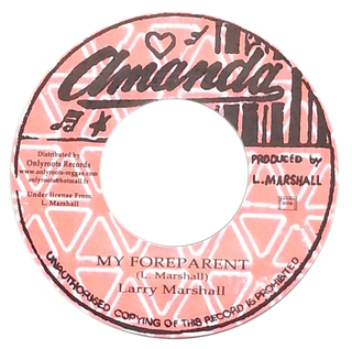 "7"" Larry Marshall - My Foreparent/Version [NM] na internet"