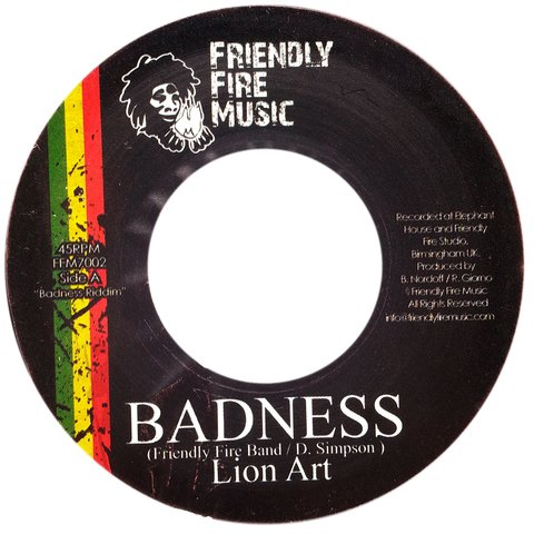"7"" Lion Art/Jah Marnyah - Badness/First Time [VG+]"