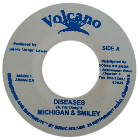 "7"" Michigan & Smiley - Diseases/Version [VG+]"