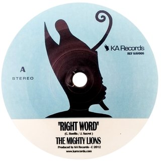 "7"" Mighty Lions - Right Word/Right Dub [NM]"