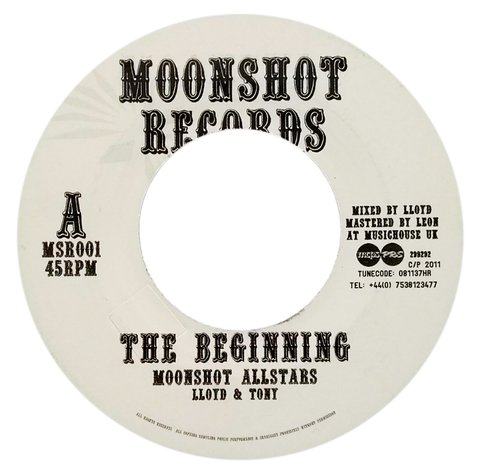 "7"" Moonshot Allstars - The Beginning/Part Two [VG+]"