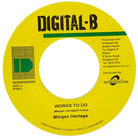 "7"" Morgan Heritage/Ras Shiloh - Works To Do/Don't Take Your Love Away [VG+]"
