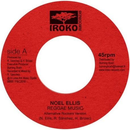 "7"" Noel Ellis - Reggae Music/Dub [NM]"