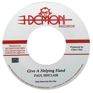 "7"" Paul Sinclair - Give A Helping Hand/Version [VG+]"