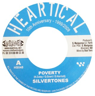 "7"" Silvertones/Papa Kojak - Poverty/Freedom Fighters [NM]"