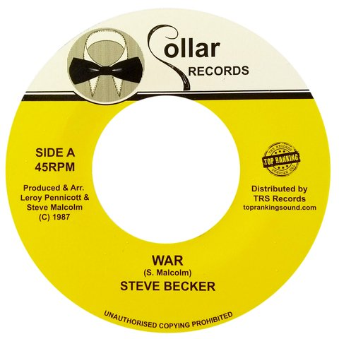 "7"" Steve Becker - War/Version [NM]"