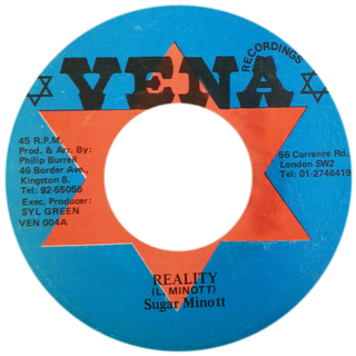 "7"" Sugar Minott - Reality  /  Version (Original Press) [VG+]"