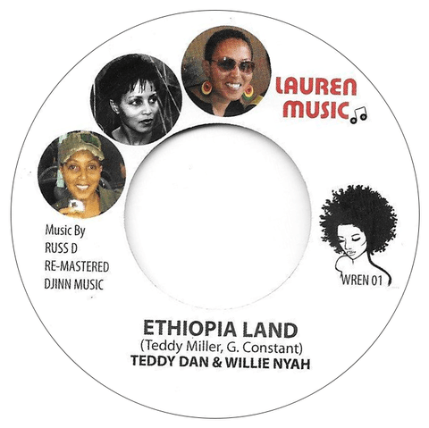 "7"" Teddy Dan & Willie Nyah/Lauren Shelton & Danny Dread - Ethiopia Land/Bohemian Grove [NM]"