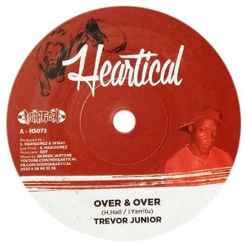 "7"" Trevor Junior/Colour Red - Over & Over/Holy Mount Zion [NM]"