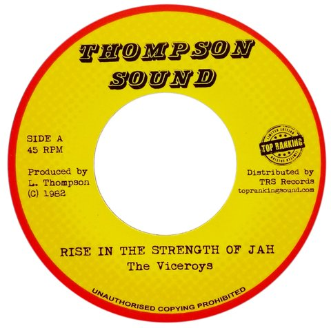 "7"" Viceroys - Rise In The Strength Of Jah/Version [NM]"
