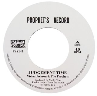 "7"" Vivian Jackson & the Prophets - Judgement Time/Prophets Dub [NM]"