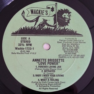 LP Annette Brissett - Love Power (Original Press) [VG+] - Subcultura