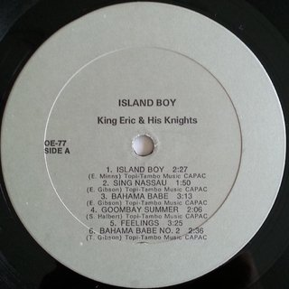 LP King Eric & His Knights - Island Boy (Original Press) [VG+] na internet