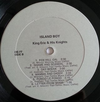 LP King Eric & His Knights - Island Boy (Original Press) [VG+] - Subcultura