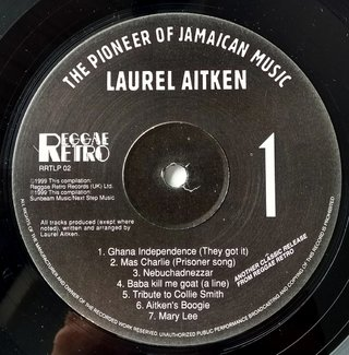 LP Laurel Aitken - The Pioneer of Jamaican Music [VG+] na internet