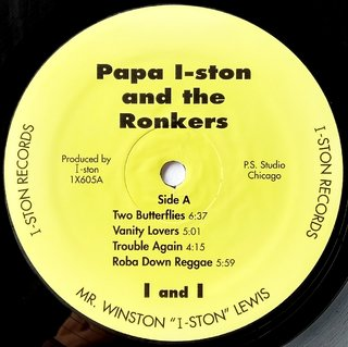LP Papa I-Ston & the Ronkers - Vanity Lovers, The Struggling Man Returns (Original Press) [VG+]