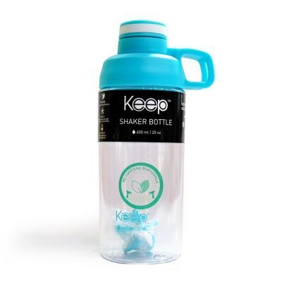 BOTELLA SHAKER KEEP - CELESTE