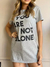 Maxi T-Shirt You Are Not Alone - Mescla - loja online