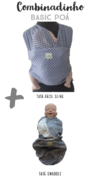 Combinadinho FIT Basic Poá (Tatá Sling + Tatá Swaddle)