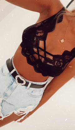 CROPTOP ENCAJE PUSH UP LINES IMPORTADO