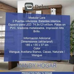 Modular Rack DELOS Lara p/ led 32 40 42 50 Home Mandy Hogar en internet