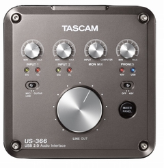 Placa De Sonido Tascam Us366 2in/2out 2.0 24bit - comprar online