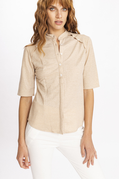 Camisa MARINE CAMEL - LeTIEND |  by GIACCA