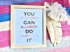 Cuadro you can do it 20 x 25 cm - comprar online