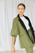 MARGARITA COAT  ~BLACK + GREEN - buy online