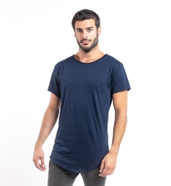 Remera Long Fit Azul Marino