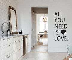 Vinilo Decorativo Frase 102 l ALL YOU NEED