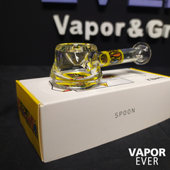 Pipa de Borosilicato K. Haring Glass  Spoon Pipe Multiyellow - VaporEver