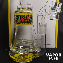Bong para extracciones K Haring Glass Rig Multi Yellow - VaporEver en internet