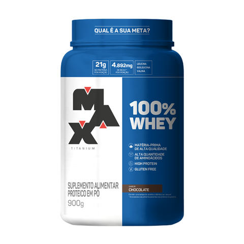 100% WHEY 900G CHOCOLATE - MAX TITANIUM