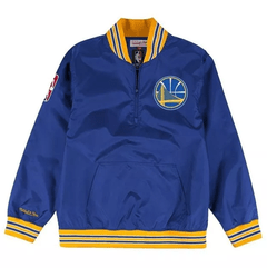 Golden State Warriors Mitchell & Ness Nba Men's 1/4 Zip Nylon Pull