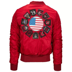 American Stitch Patches Bomber Jacket - Men's - comprar online