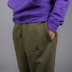 "JORDAN SPORTSWEAR WINGS FLEECE ""OLIVE"" PANTS - MEN'S - LoDeJim"