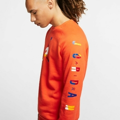 "JORDAN DNA HBR FLEECE ""ORANGE"" CREW - MEN'S - LoDeJim"