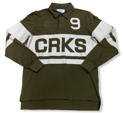 Crooks & Castles Selector Long Sleeve Rugby Military