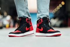 Nike Air Jordan 1 Retro High Hi Flyknit Banned Bred en internet